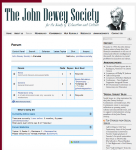 essays on john dewey John dewey (1859 - 1944) was convinced that to learn comes from the individual learners' needs, and the learner should be involved in planning, executing, and.